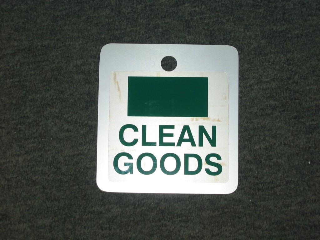 Clean goods flip card